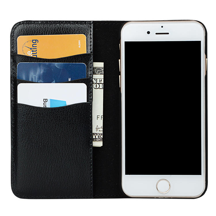 Fashion Luxury Filp Genuine Leather Card Holder Cell Cases Shockproof Cover Wallet Mobile Phone Case For iphone 8 plus