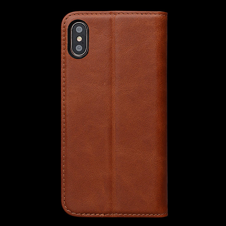 Premium Flip Leather Wallet Mobile Phones Cover Case For iPhone X Case