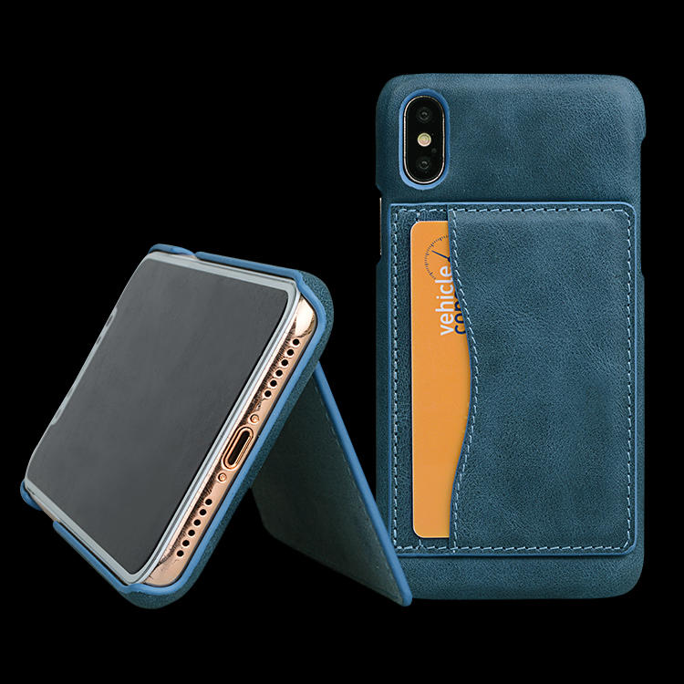 100% Genuine Leather Mobile Phone Cases With Card Slot For Iphone XR