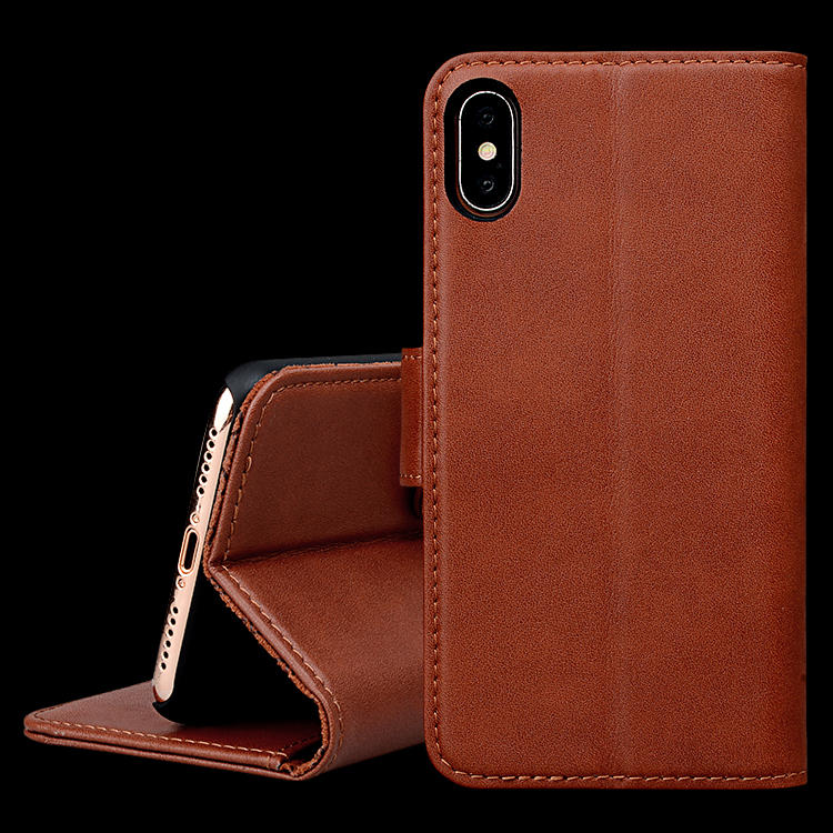 Fashion Luxury Filp Genuine Leather Card Holder Cell Cases Shockproof Cover Wallet Mobile Phone Case For iphone XR