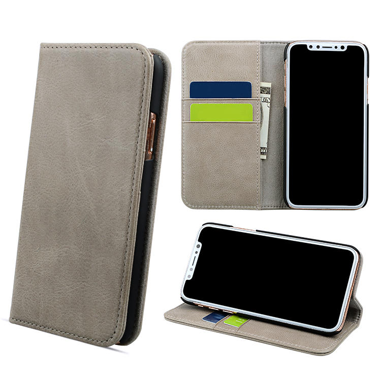 Best Price Business Wallet Leather Phone Case With Card Holder For Iphone Xr