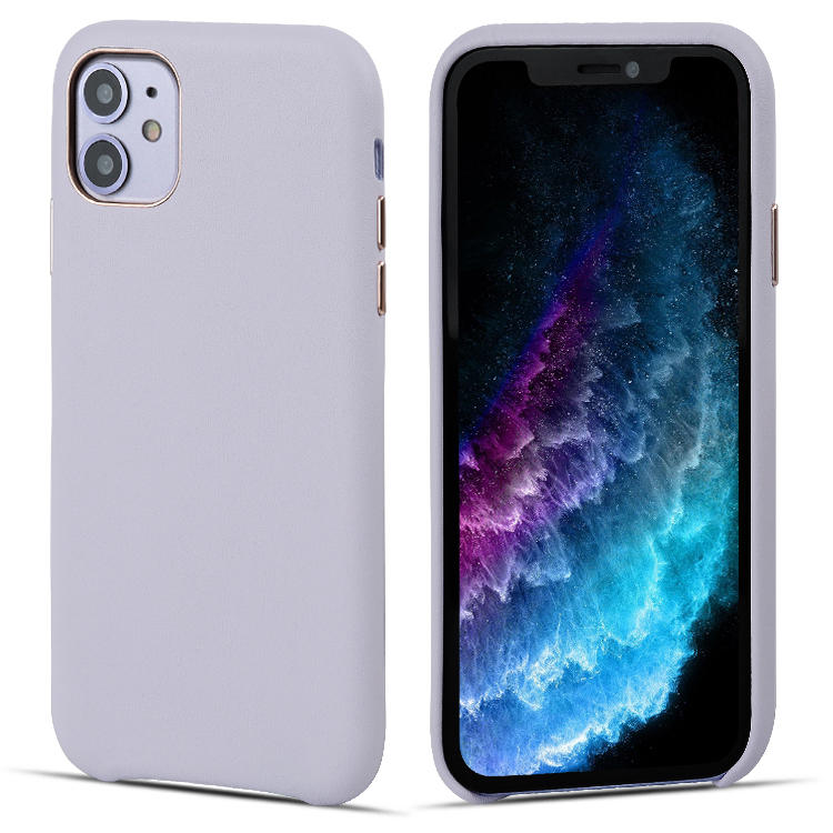 Exclusive Delicate First Layer Cowhide Leather Back Leather Mobile Phone Case Cover For iPhone 11 pro/Iphone 11