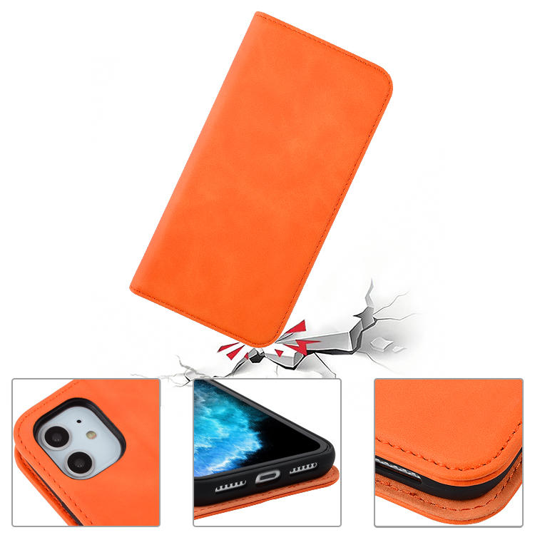 Business fashional magnetic kickstand PU leather phone case folding wallet leather cover for iphone 11/iphone 11 Pro Max