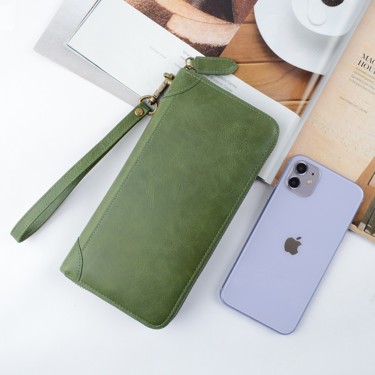 AIVI leather credit card wallet supply for ipone 6/6plus-4