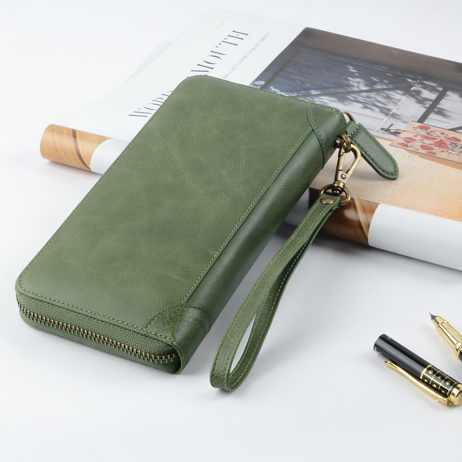 AIVI leather credit card wallet supply for ipone 6/6plus-6