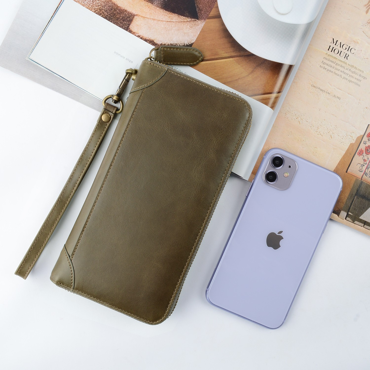 AIVI leather card holder wallet mens manufacturer for phone XS Max-4