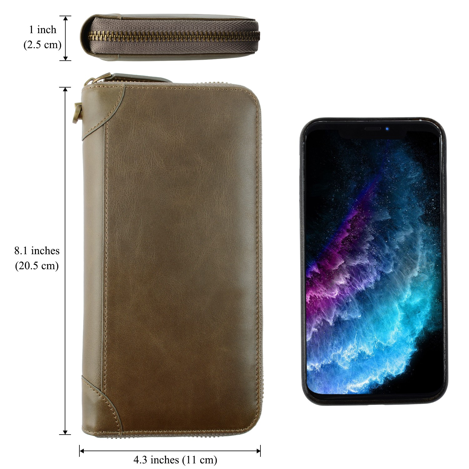 AIVI leather card holder wallet mens manufacturer for phone XS Max-5