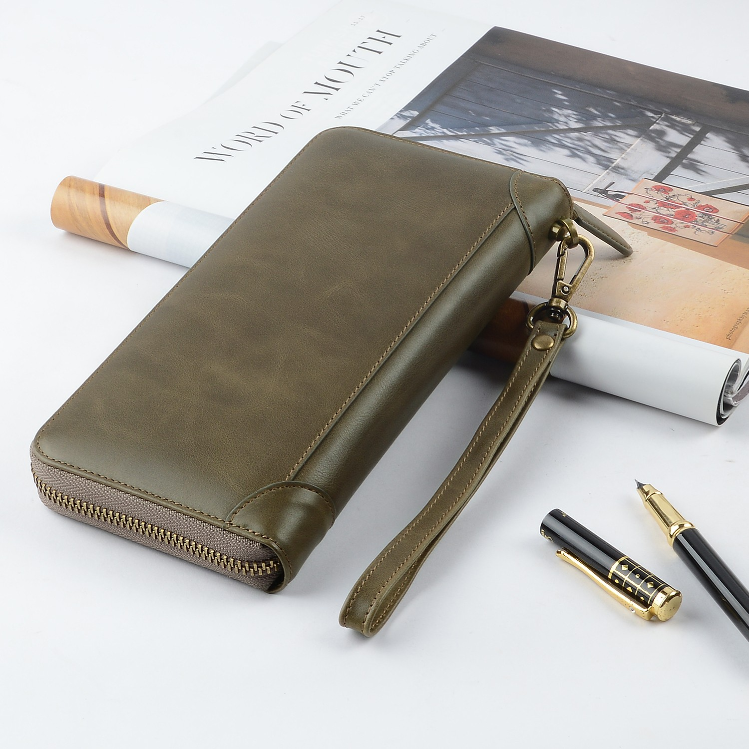 AIVI unisex leather card holder wallet mens online for ipone 6/6plus-6
