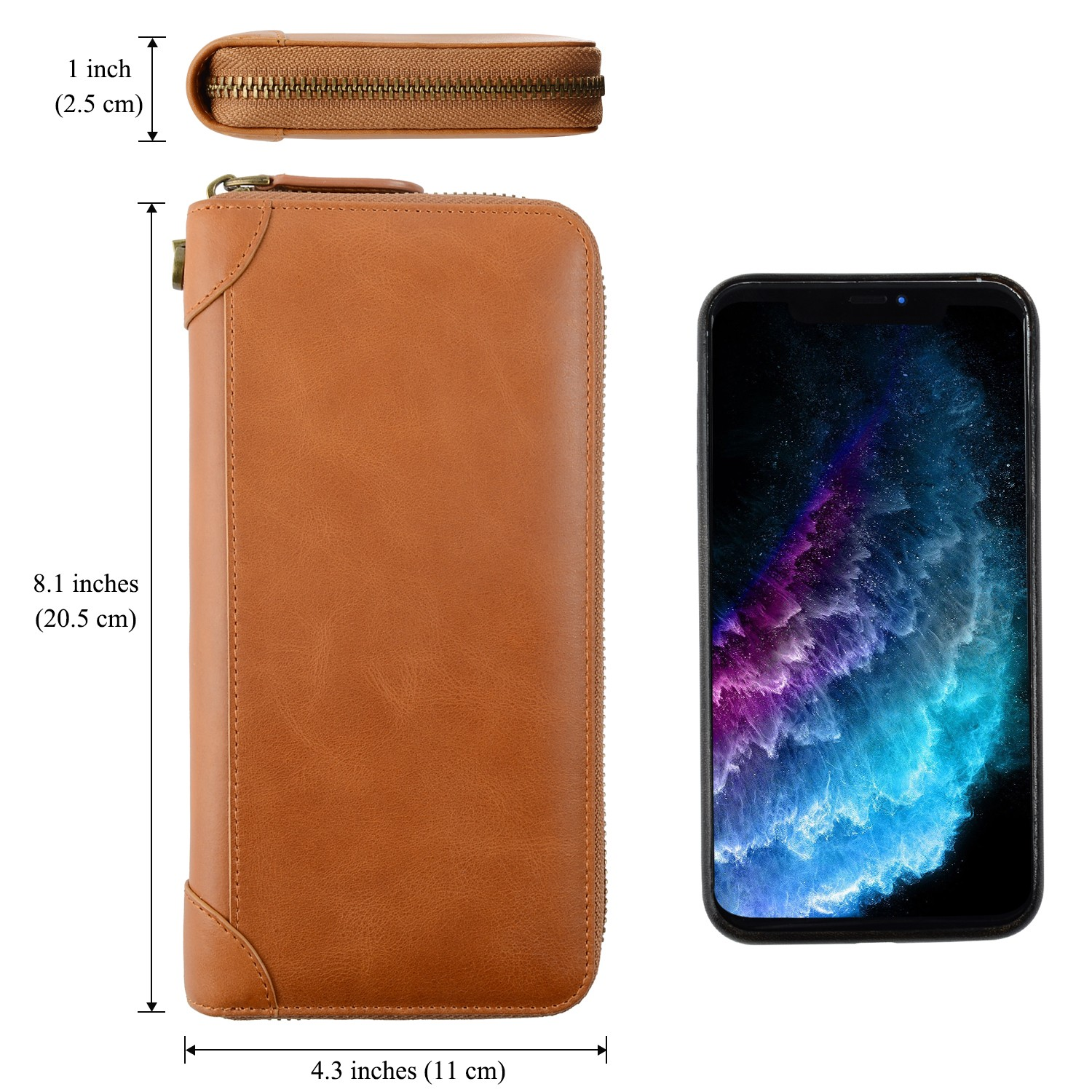 personalized leather card holder wallet manufacturer for iphone X-5