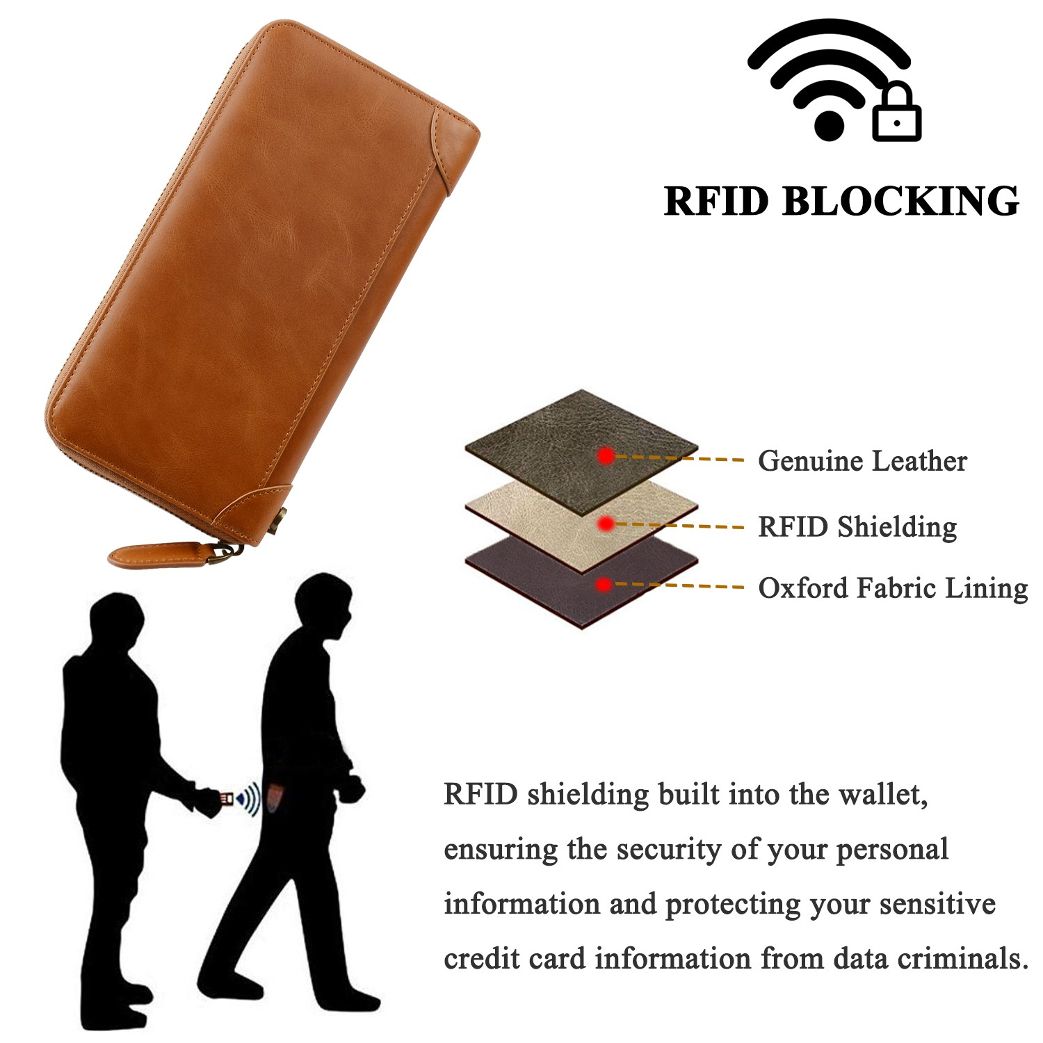 personalized leather card holder wallet manufacturer for iphone X-7