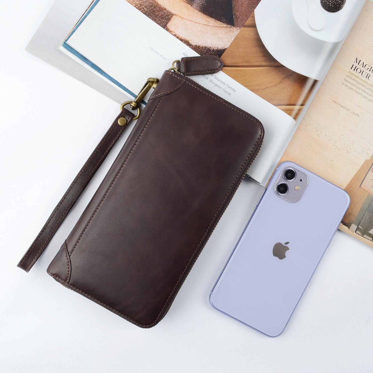 AIVI convenient leather card wallet factory for iphone 7/7 plus-5