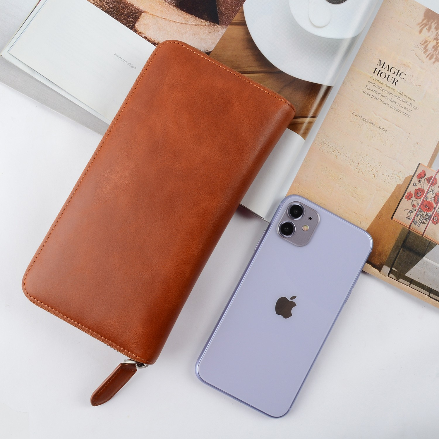 reliable leather card case wallet manufacturer for iphone X-1