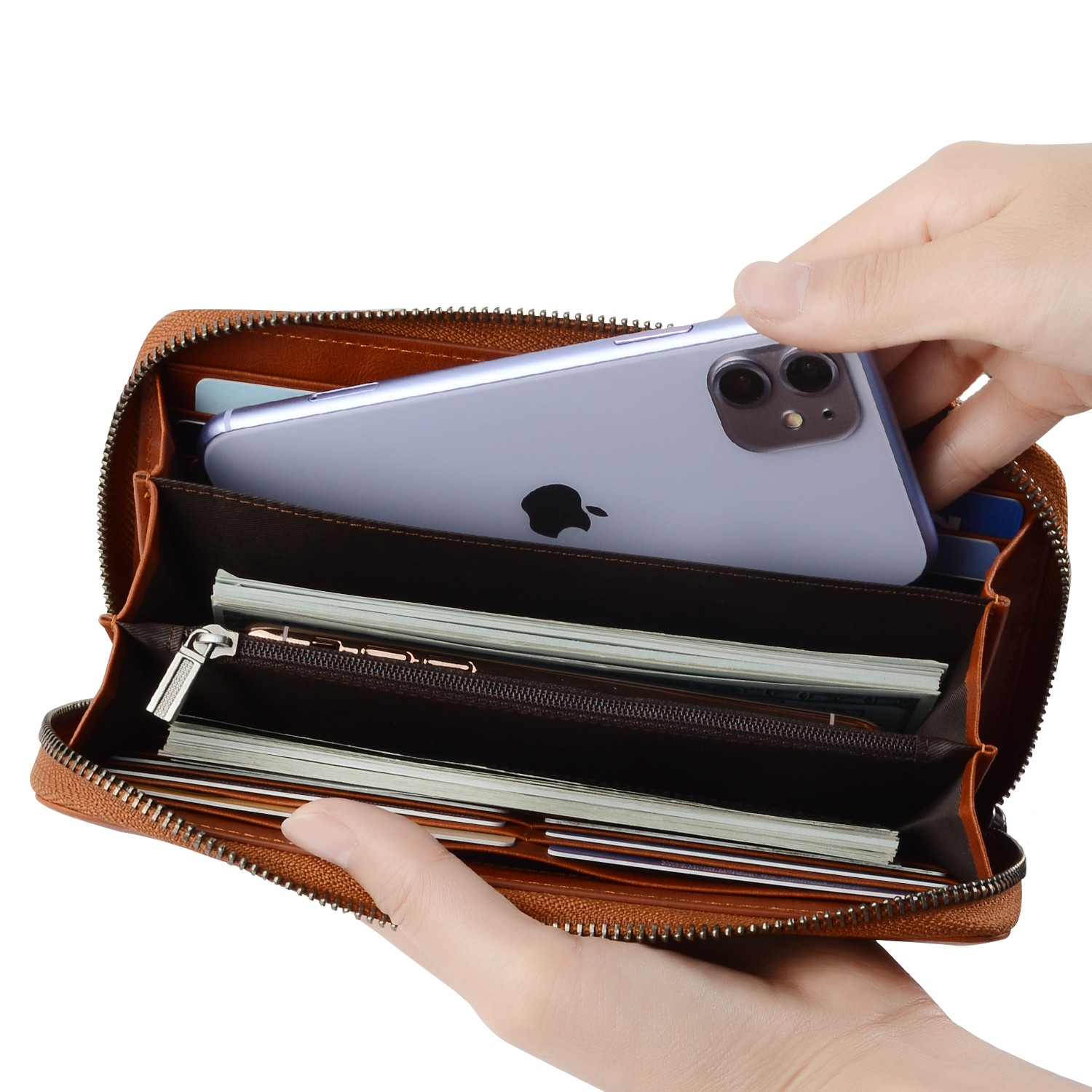 reliable leather card case wallet manufacturer for iphone X-4