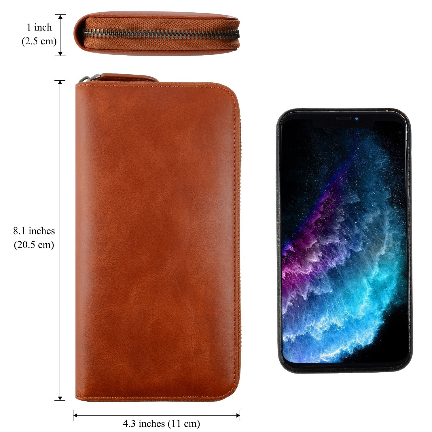reliable leather card case wallet manufacturer for iphone X-5