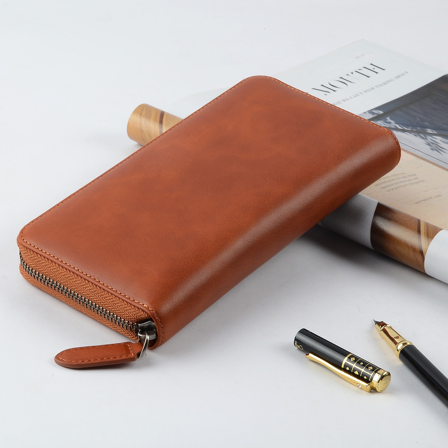 reliable leather card case wallet manufacturer for iphone X-6