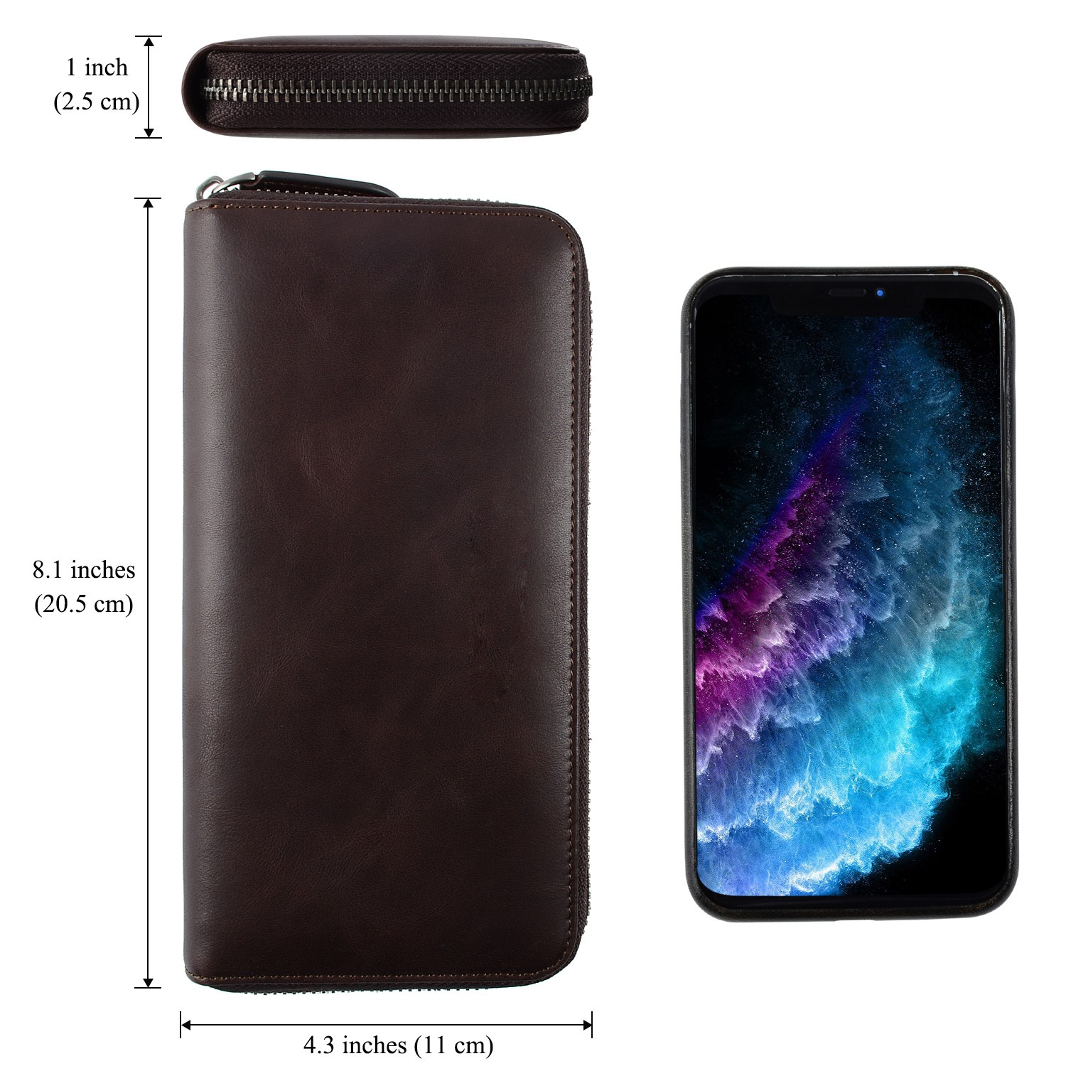 AIVI leather card holder wallet supply for iphone 8 / 8plus-5