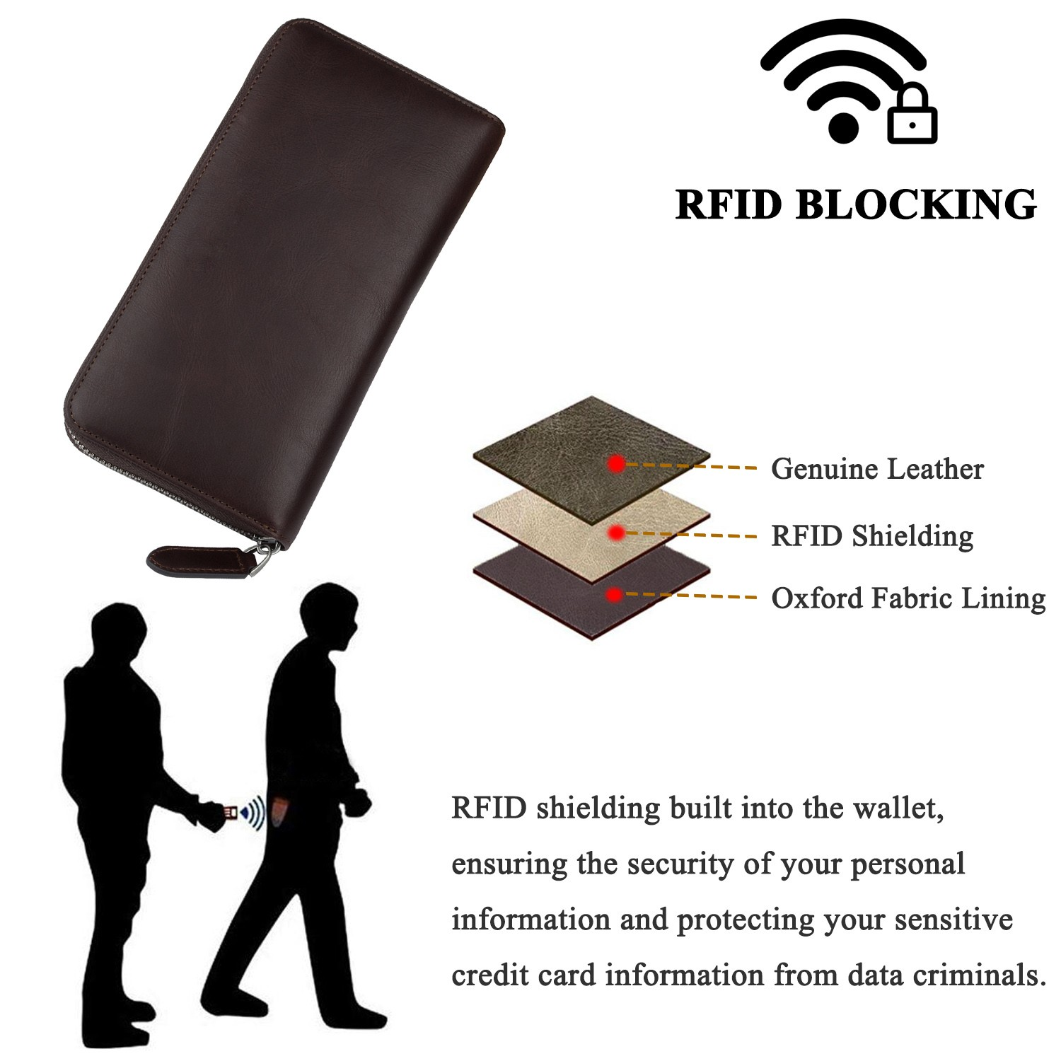 AIVI high quality leather card wallet for sale for iphone XR-7