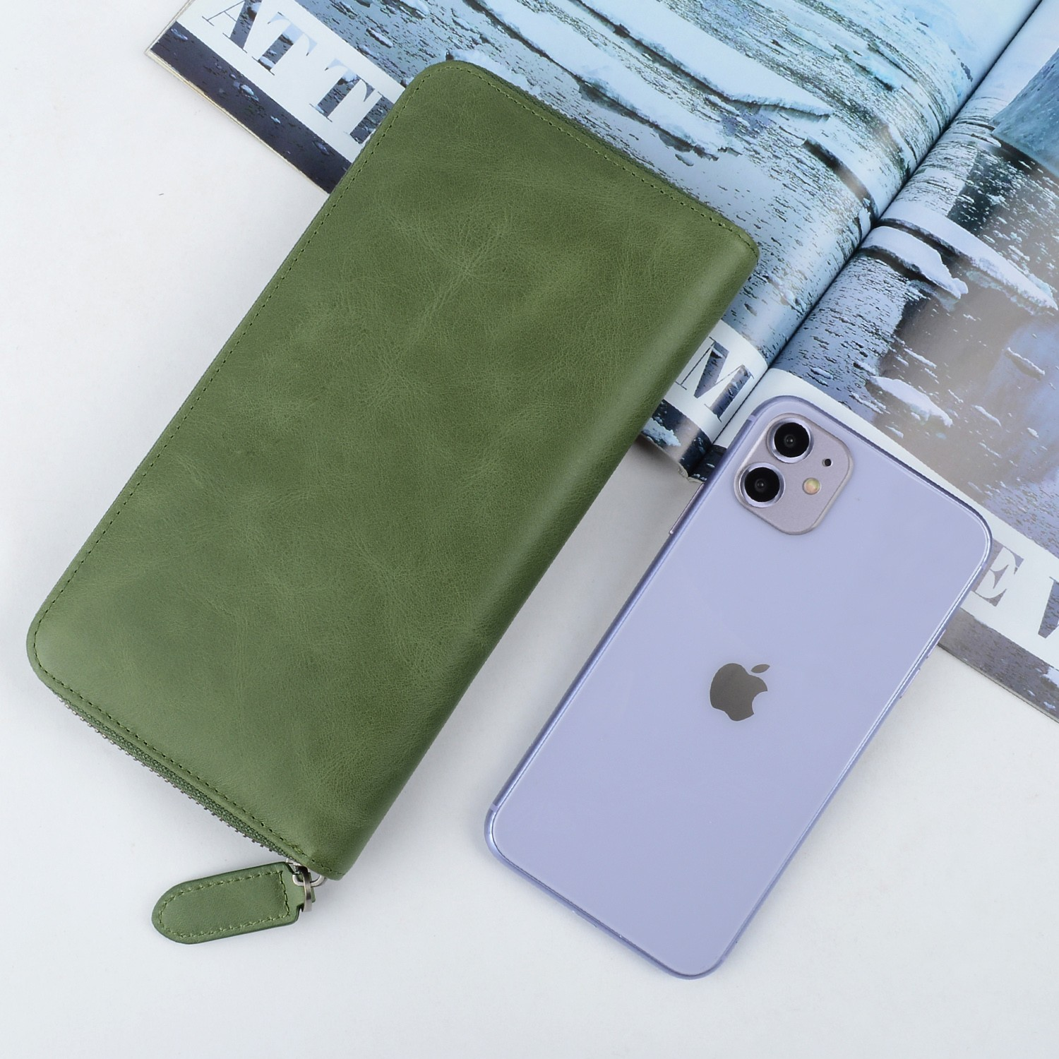 AIVI multifunction leather card case wallet supply for ipone 6/6plus-4
