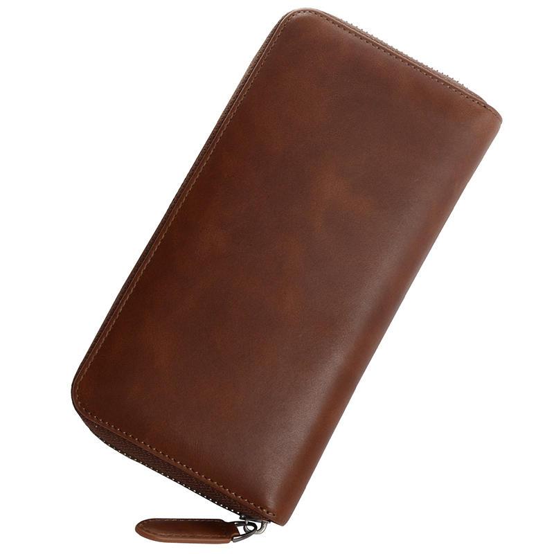 Hot Selling Ladies Clutch Bag RFID Genuine Leather Woman Wallet Wholesale