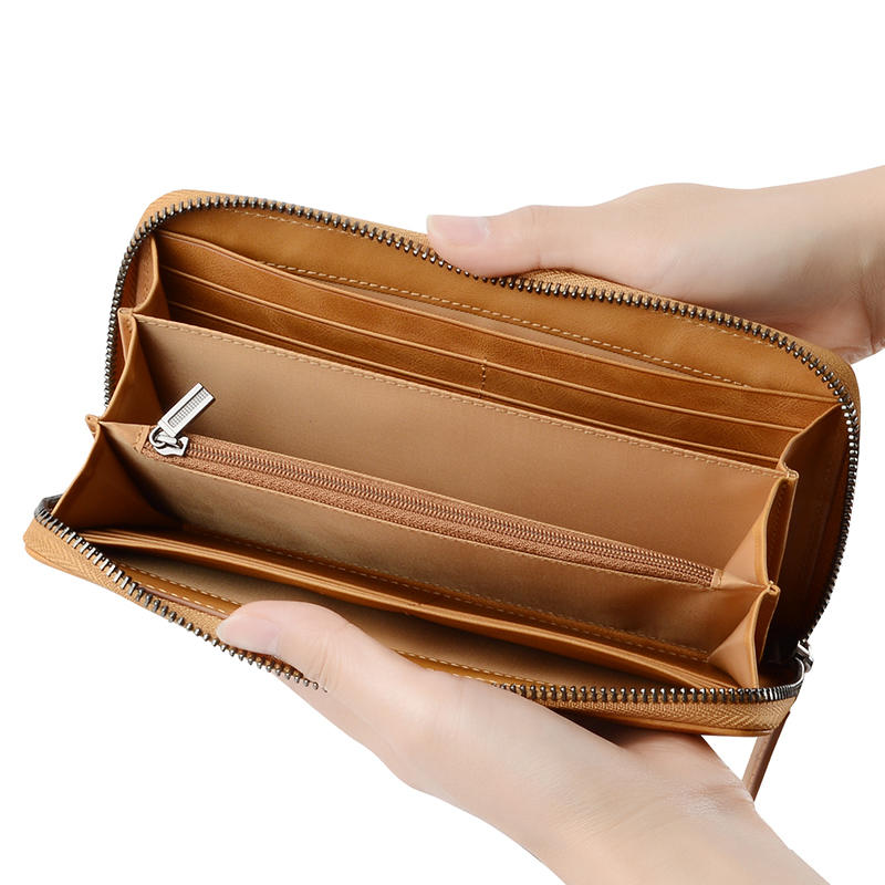 2020 Wallets Female Genuine Leather Coin Purse Fashion RFID Women Wallets Hasp Zipper Pouch Purse Clamp