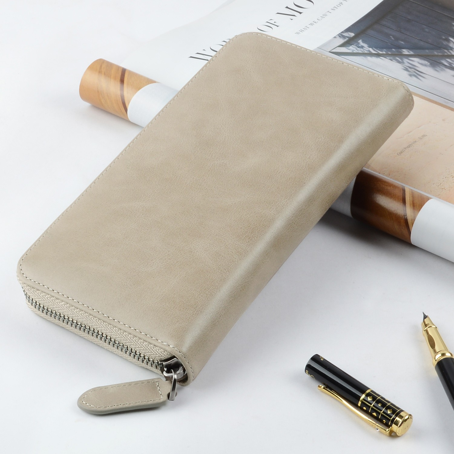 beautiful mens leather wallet with coin pocket for sale for iphone XS-5
