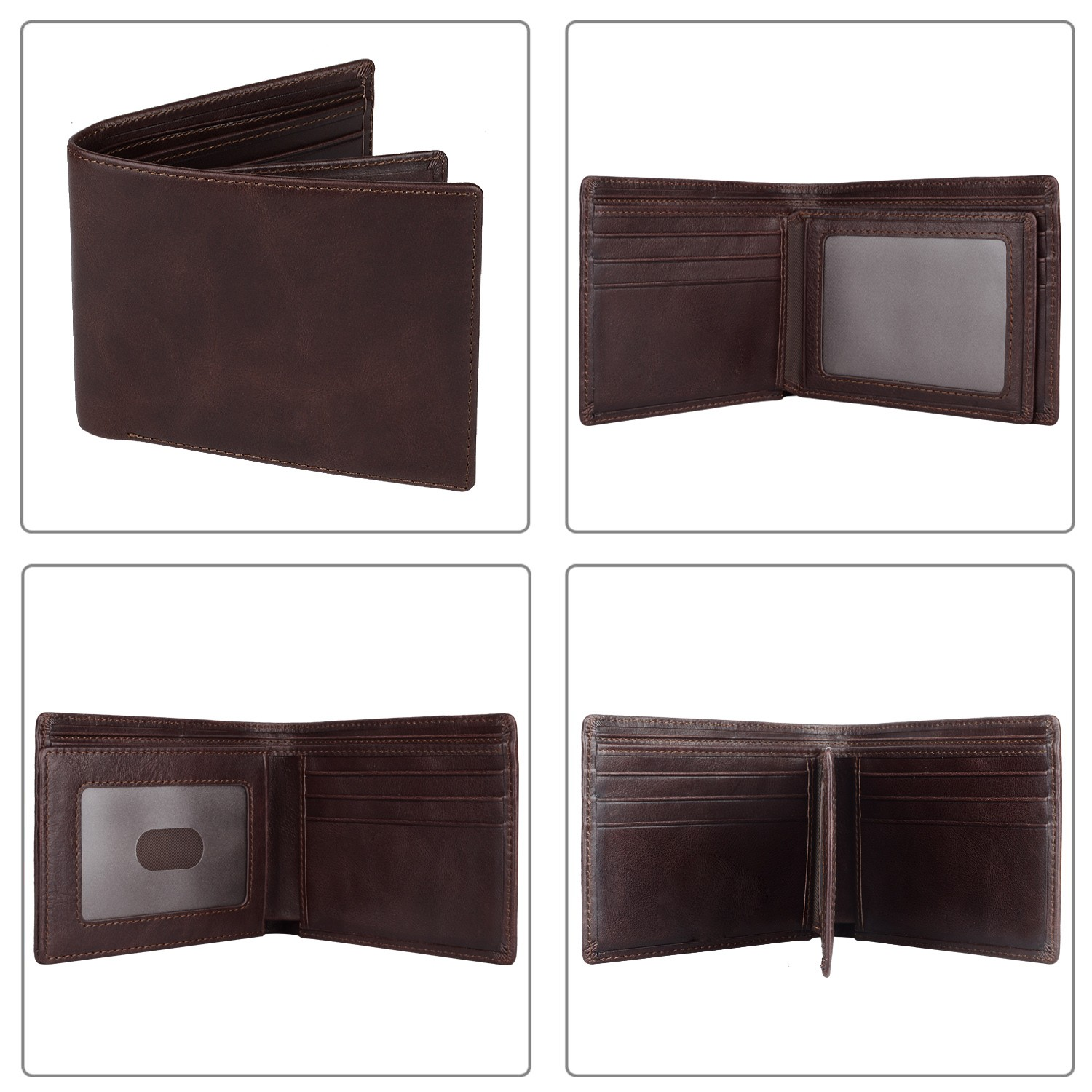 fashion custom leather wallets Manufacturer for travel-4