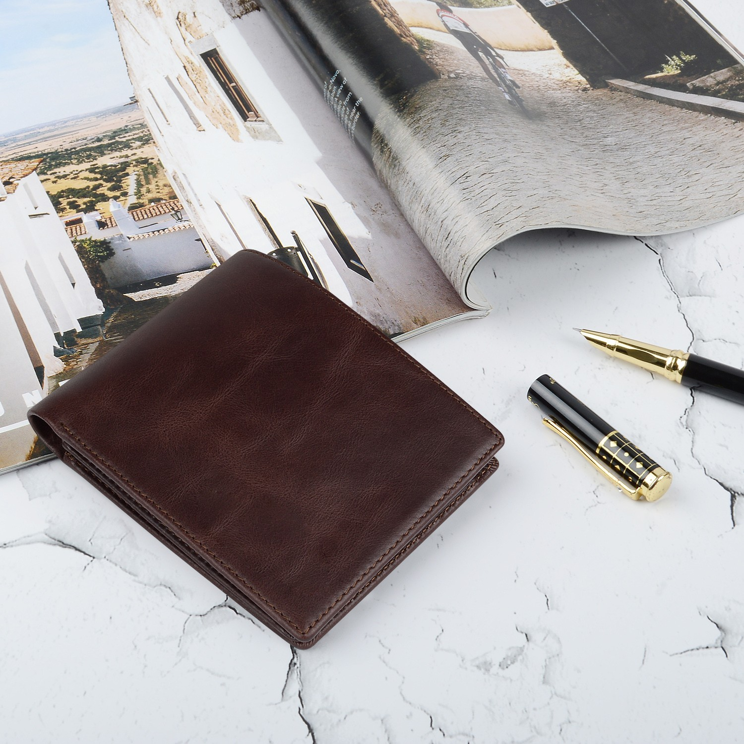 fashion custom leather wallets Manufacturer for travel-5