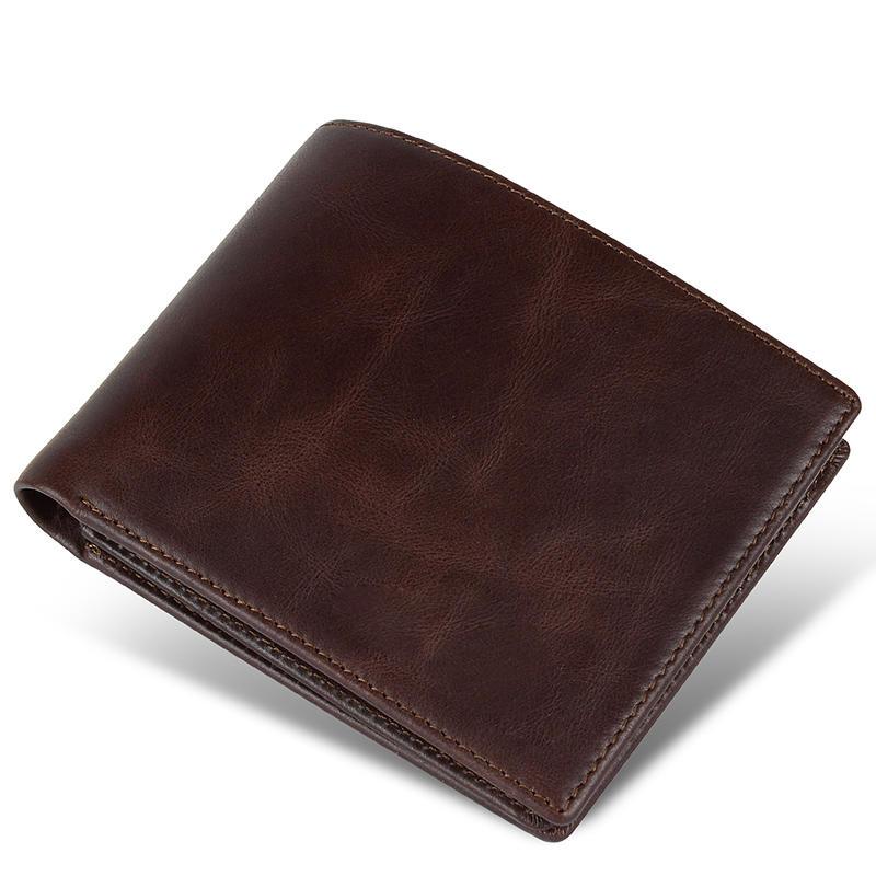 Card Holder Money Clip Short Wallet Coin Purse Bifold Wallets Men Genuine Leather Wallets