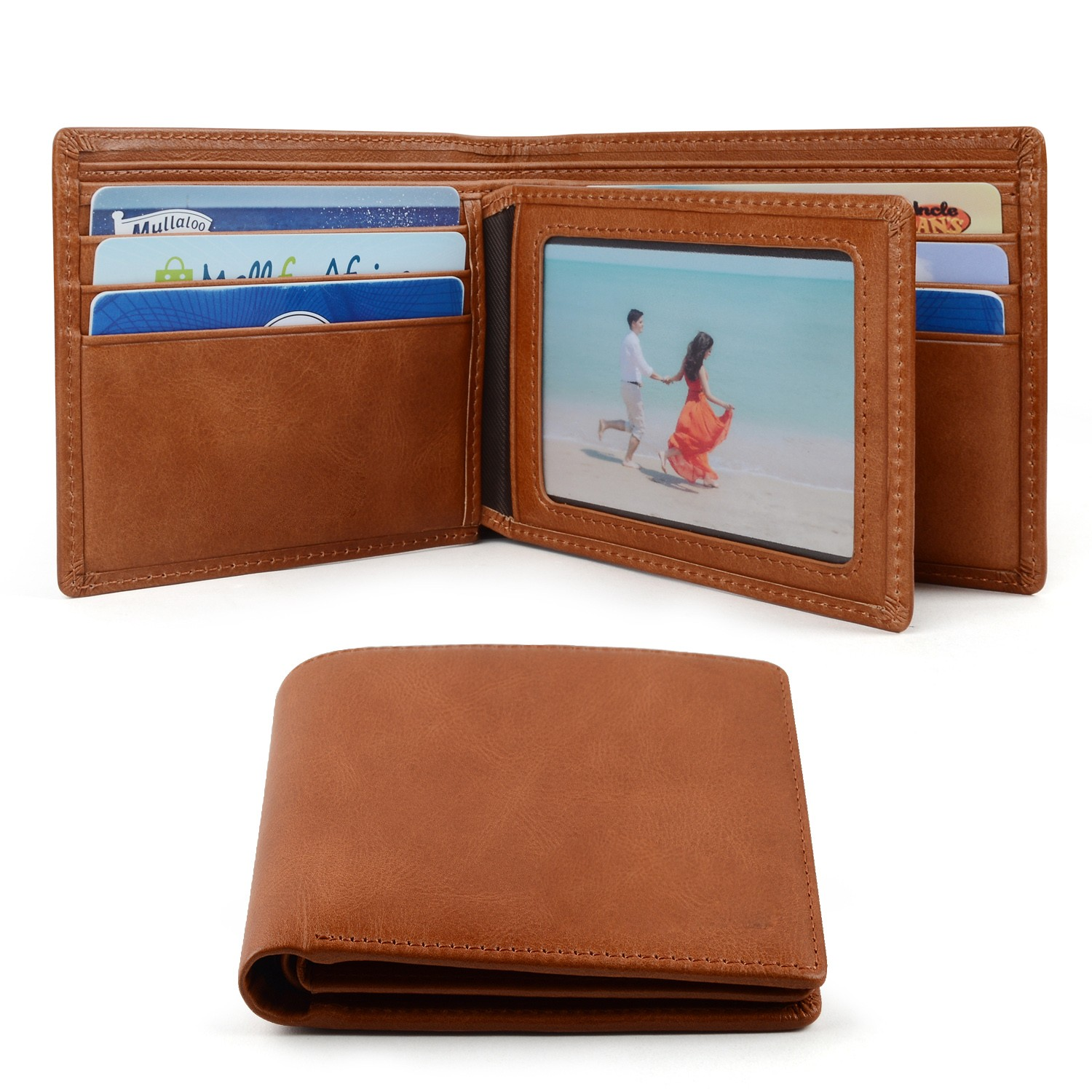 leather travel wallet large capacity for men-1