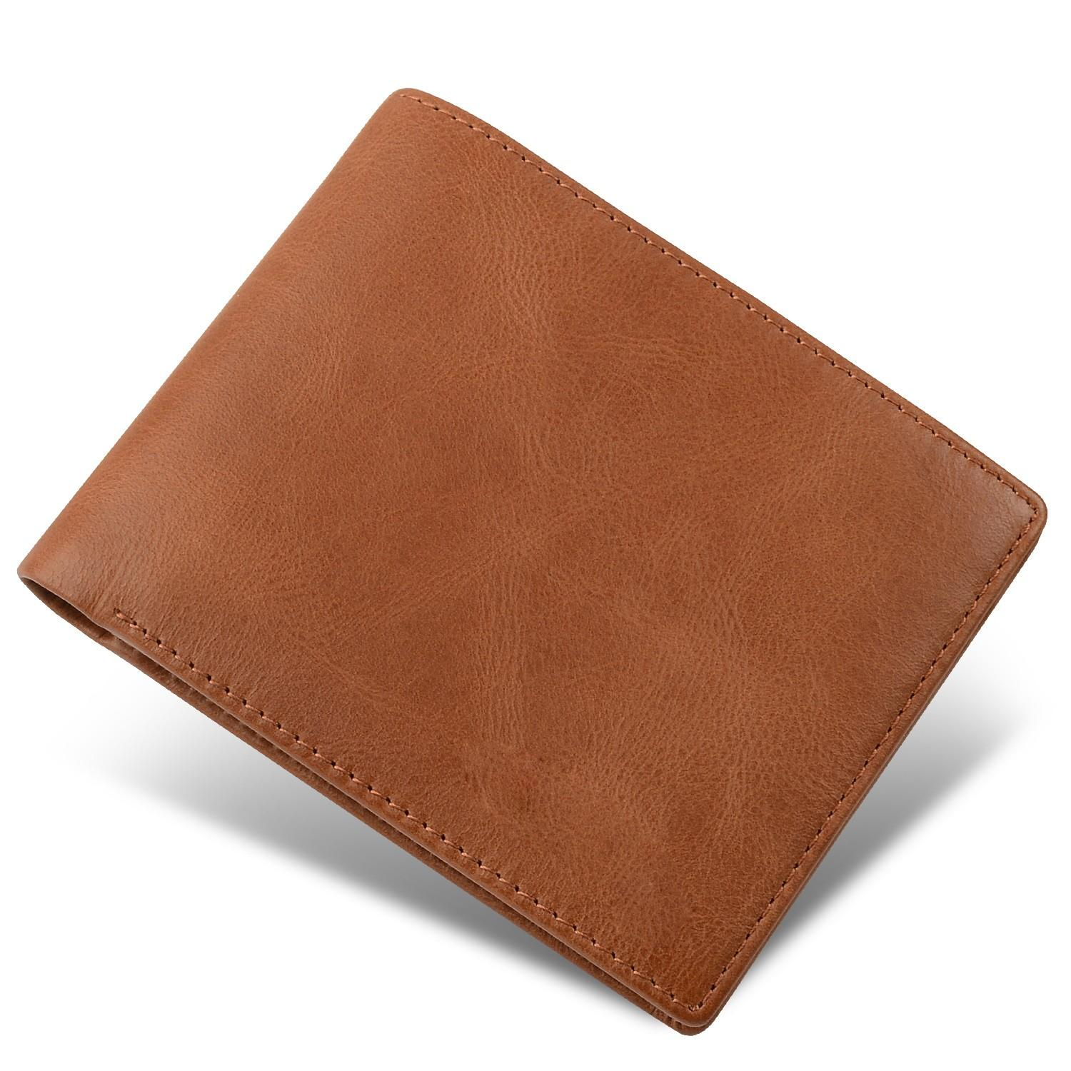 leather travel wallet large capacity for men