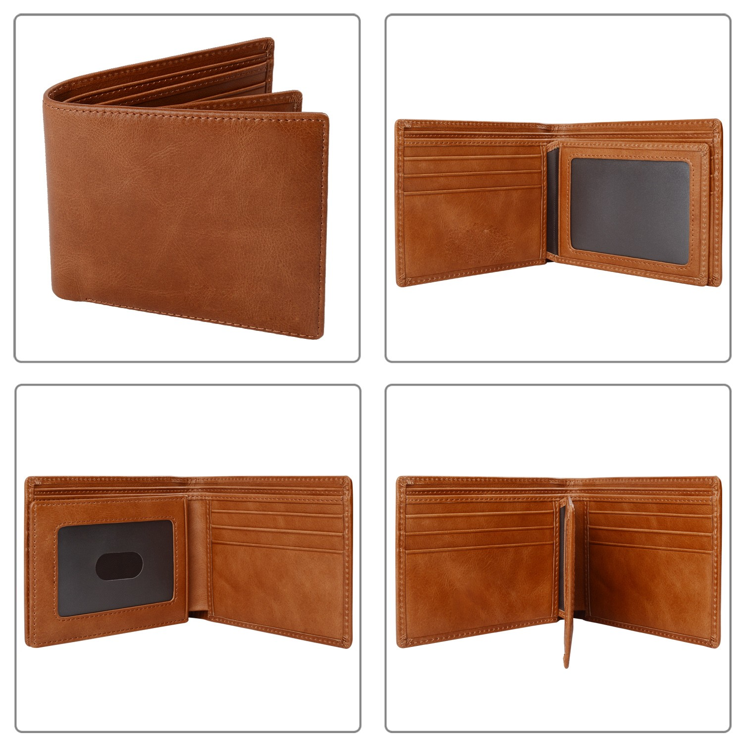 leather travel wallet large capacity for men-4