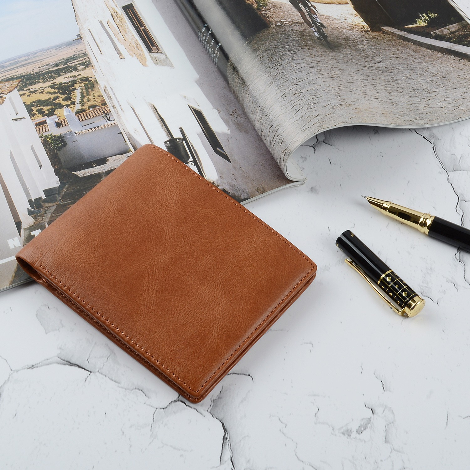 leather travel wallet large capacity for men-5