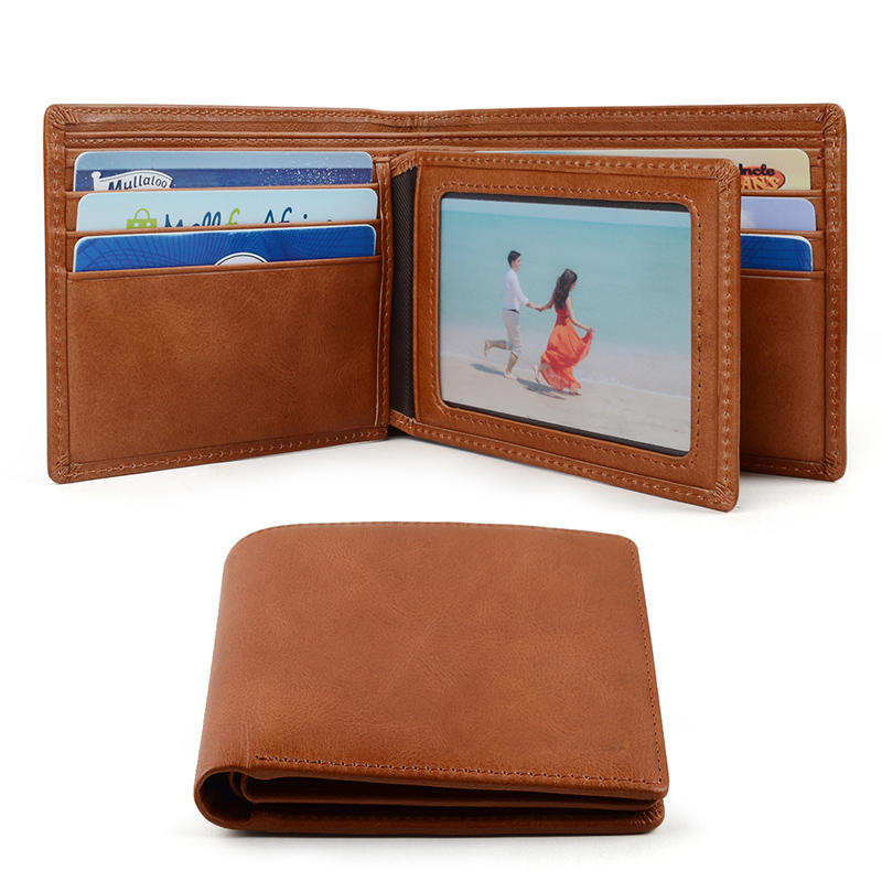 customized Genuine Leather Wallet Slim For Men