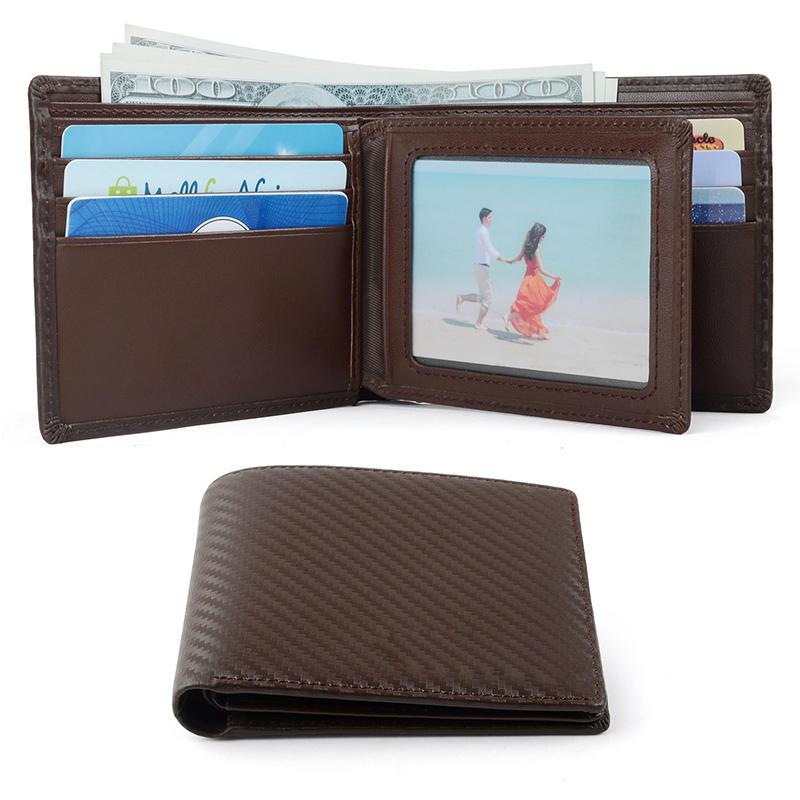 Dark Brown Soft Grain Leather Men's Wallet Card Holder Men Wallet