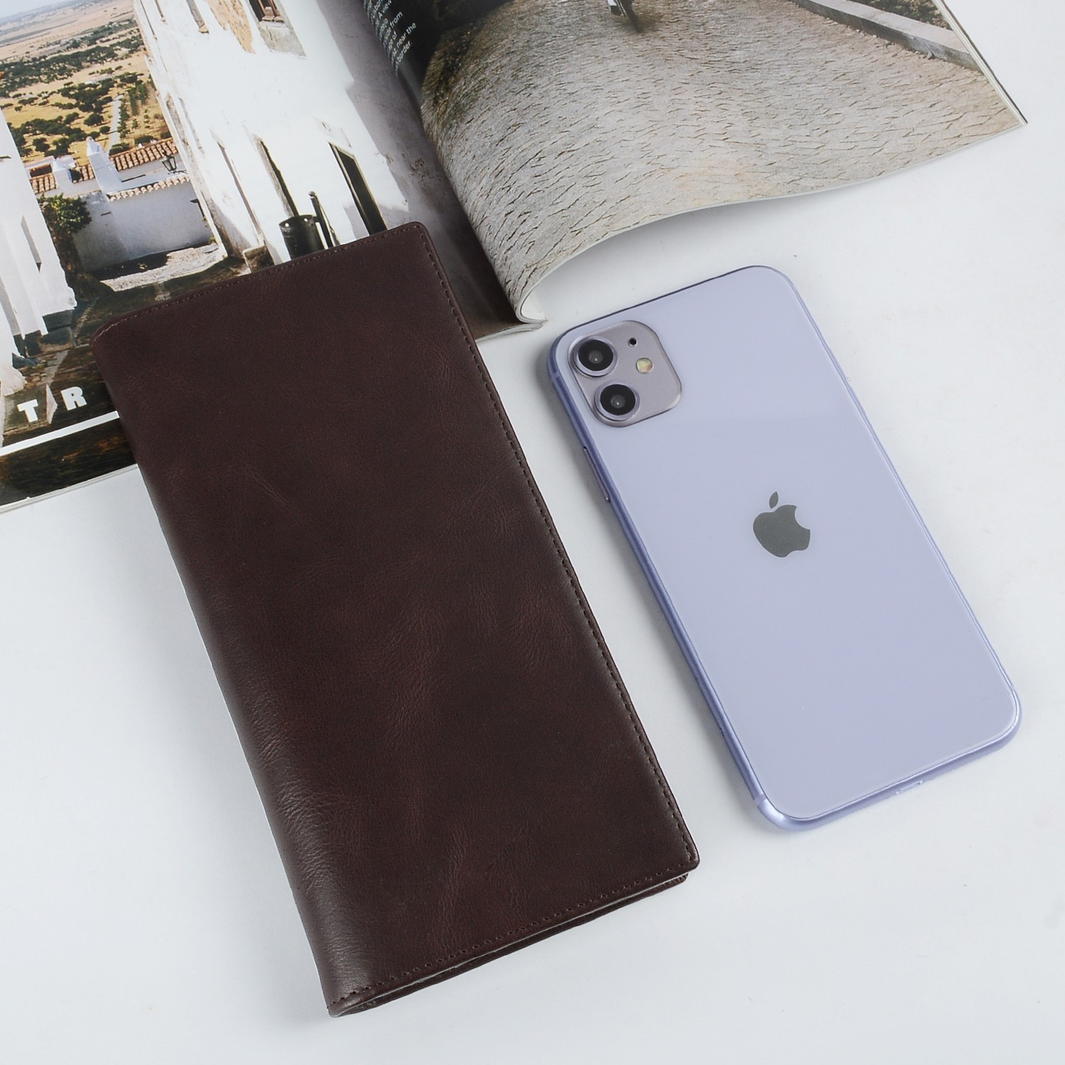 personalized leather card wallet for sale for ipone 6/6plus-5