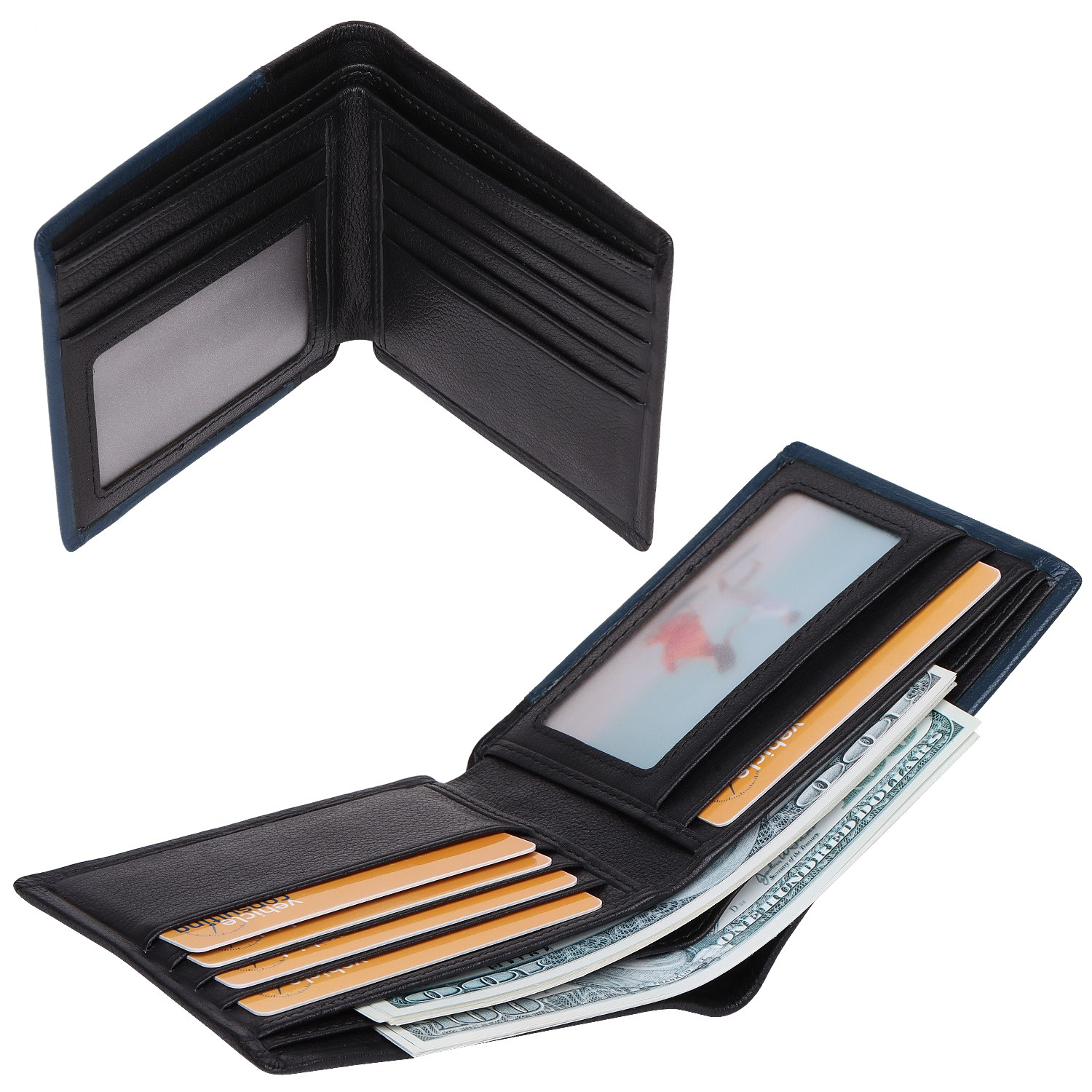 soft leather card holder wallet for sale for iphone XS-3