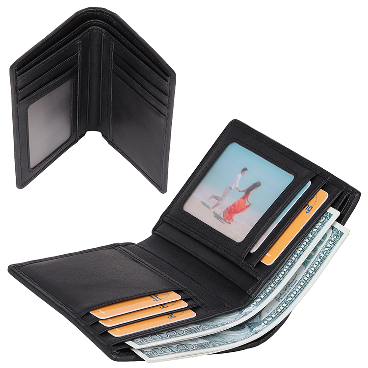 unisex leather card holder wallet mens factory for iphone 8 / 8plus-3