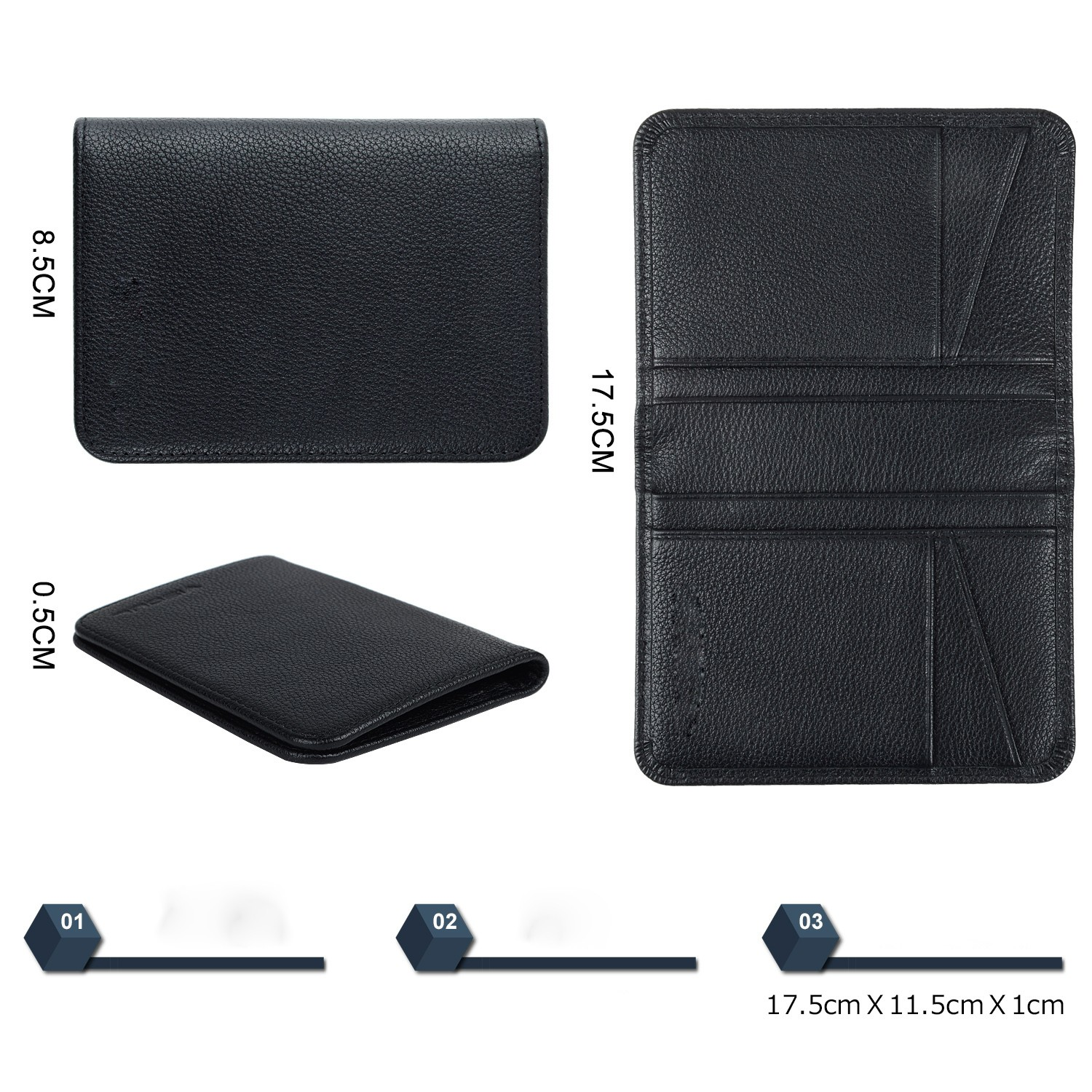 AIVI leather card case wallet manufacturer for ipone 6/6plus-4