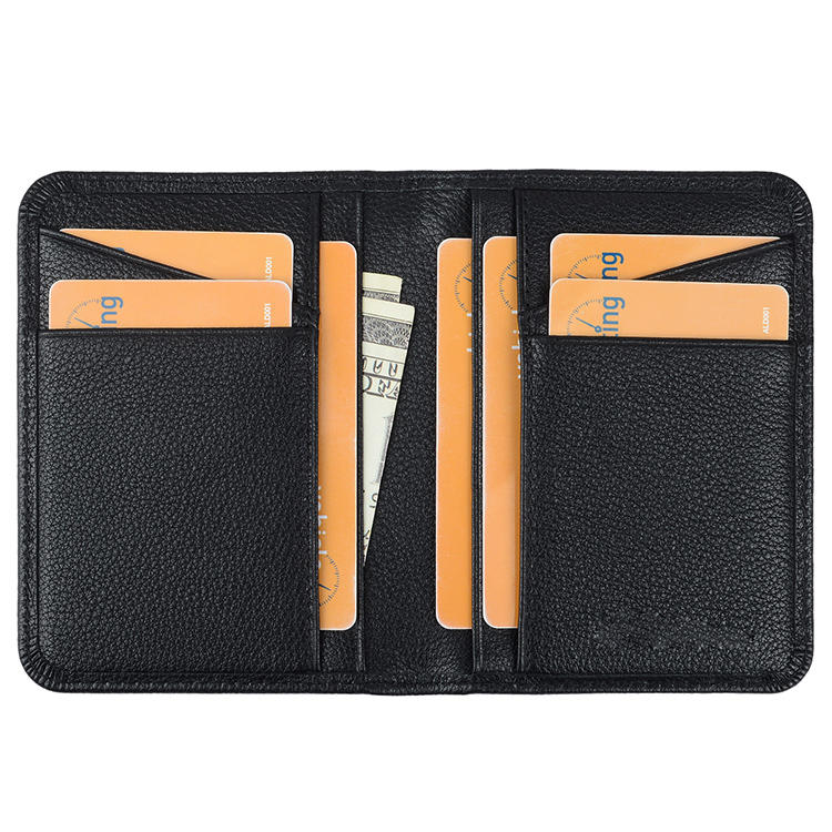 Luxury New Custom Thin Card Holders First Layer Cowhide  Leather Credit Card Case