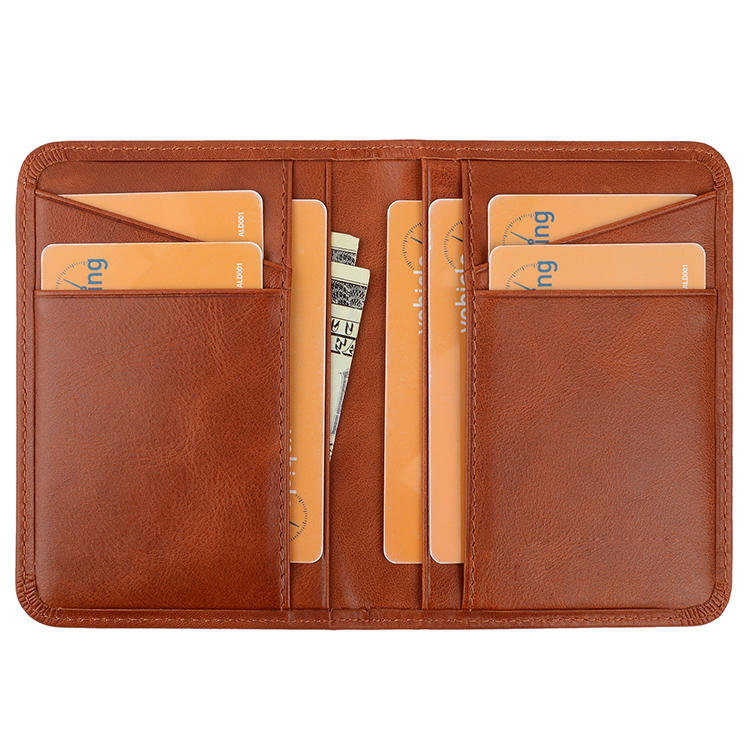 AIVI High Quality Custom Logo Cardholder Men Wallet RFID Real Calf Leather Made Super Thin Credit Card Holder Male