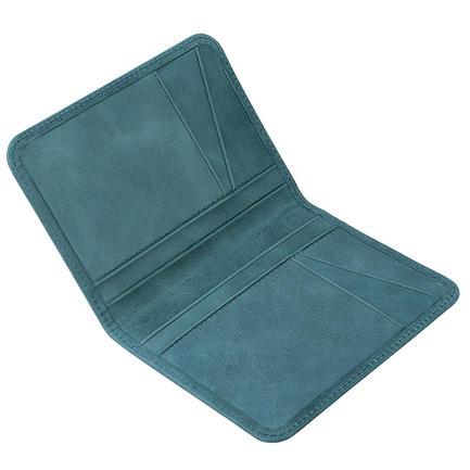 100% FuLL Grain Genuine Leather RFID Blocking Classical Card Holder Wallet For Men