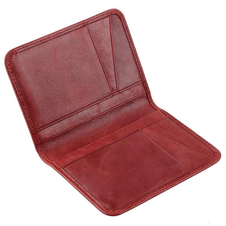 Genuine Leather luxury fashion mens business card holder Custom RFID leather credit card holder