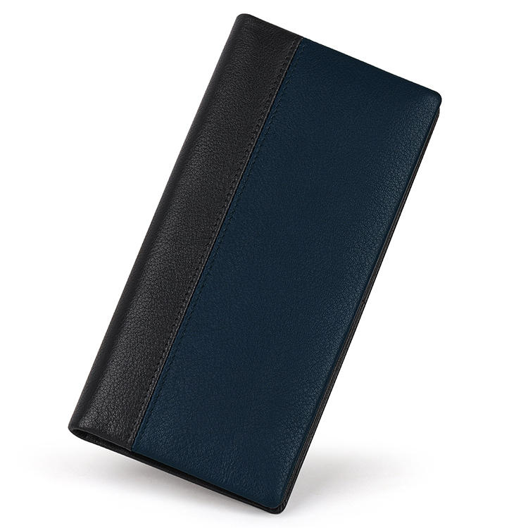 High Quality Vegetables Tanned Leather Long Bifold Wallet With  RFID Function