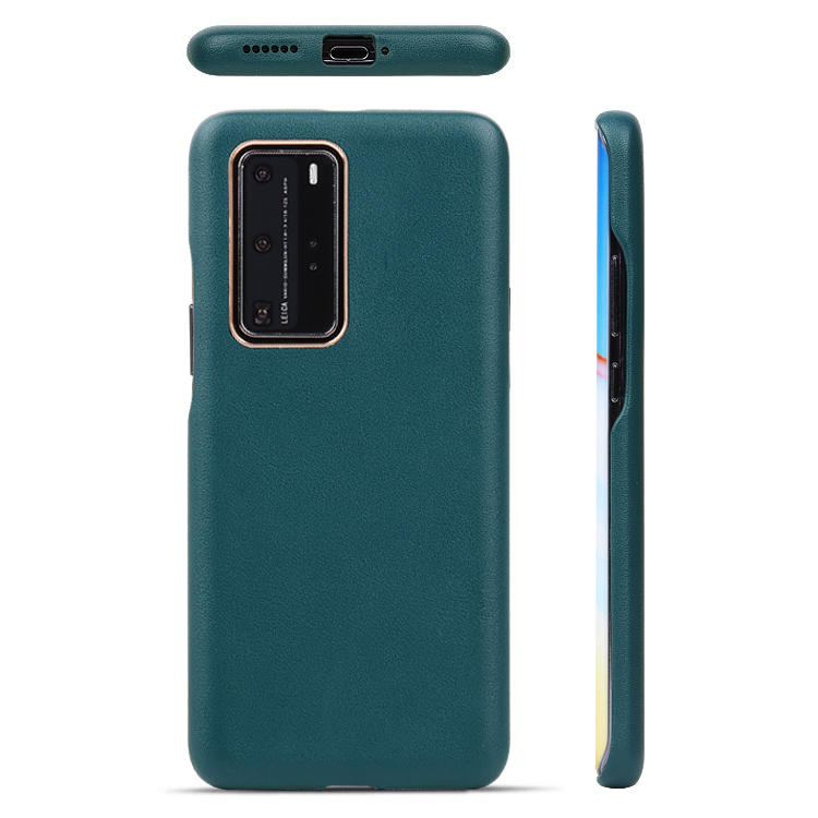 Real Leather Phone Case With Card Slot For Huawei P40