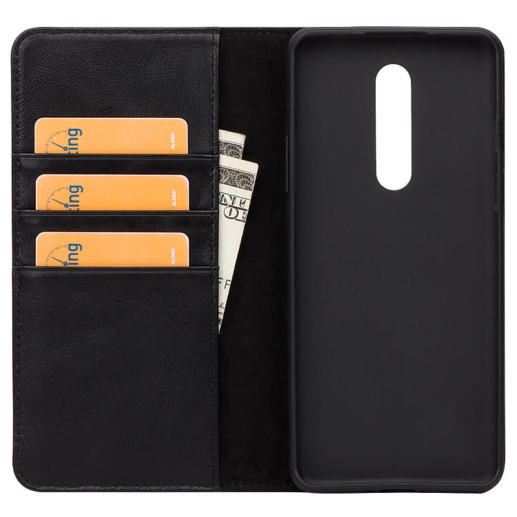 Genuine Leather Phone Case With Shockproof Function Case For one plus 8 case