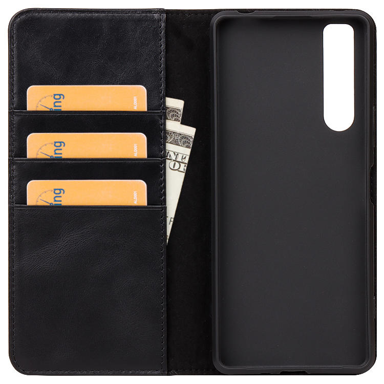 Real Genuine Leather luxury wallet phone case For Sony xperia