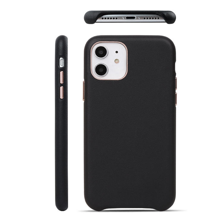 Luxury  Leather Mobile Cell Phone Case with Matching Colour Microfiber For iphone 11 Leather Case
