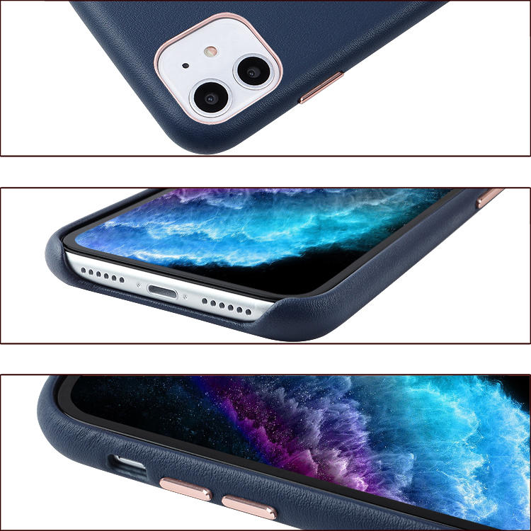 Microfiber Leather Phone Case With Soft Microfiber Lining Black Pink Brown Color Leather Phone Case Back Cover For Iphone 11/Iph
