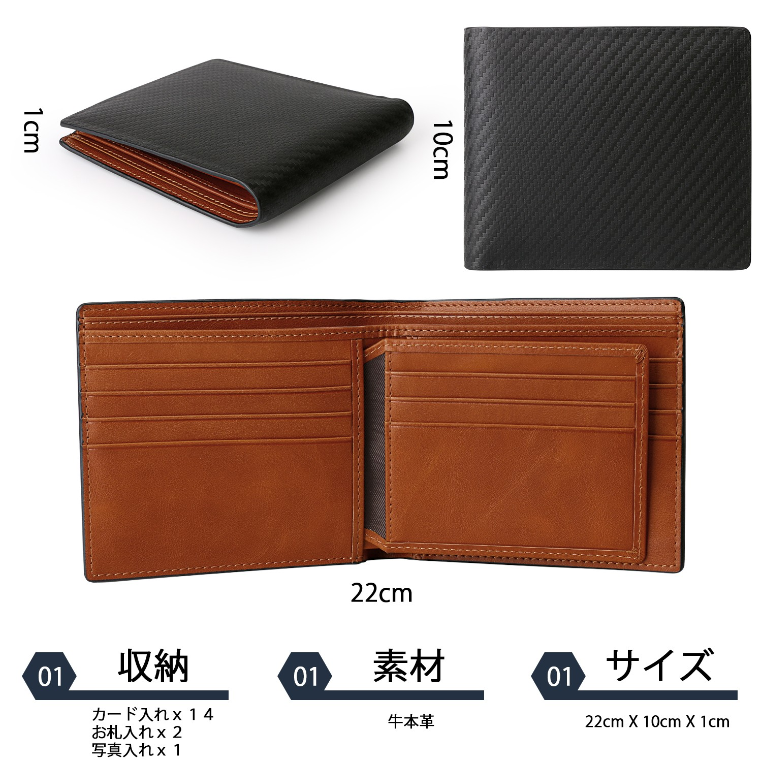 AIVI mens leather wallet with coin pocket online for iphone 8 / 8plus-7