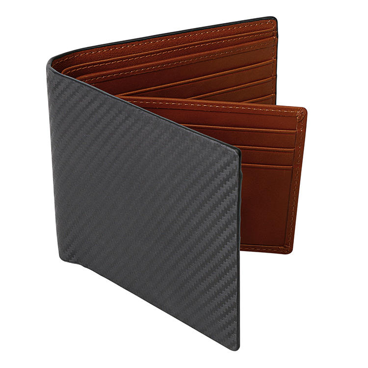 Natural genuine leather Slim Bifold wallet